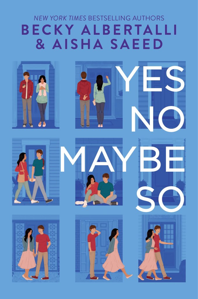 Yes No Maybe So by Becky Albertalli and Aisha Saeed book cover