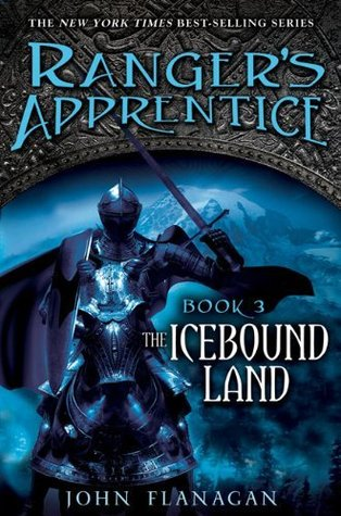 The Icebound Land by John Flanagan book cover