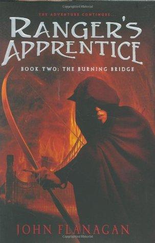 The Burning Bridge by John Flanagan book cover