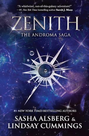 Zenith by Sasha Alsberg and Lindsay Cummings book cover