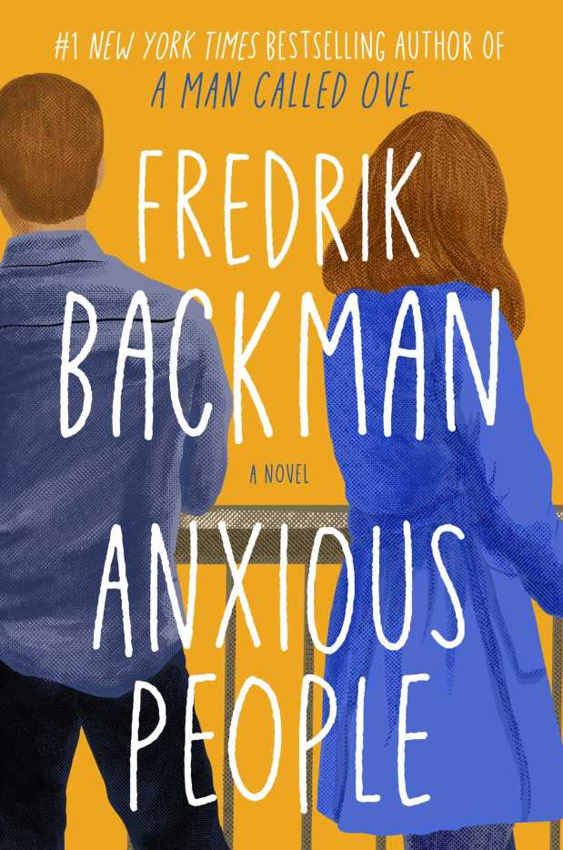 Anxious People by Fredrik Backman book cover