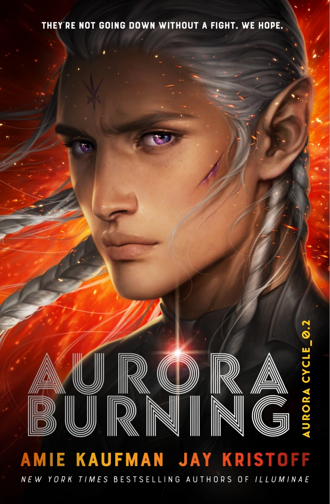 Aurora Burning by Amie Kaufman and Jay Kristoff book cover